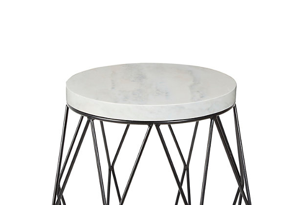 "Cadenita 26"" Mid-century Modern Wire Basket Accent Table, , large"
