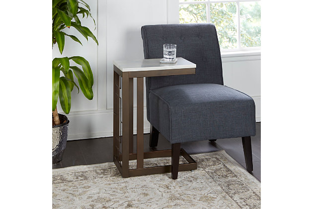 Camba Double Square C Table with Square  Accent, , large