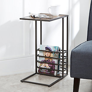 Derby Wood and Metal End Table, , rollover