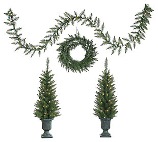 Decorative 4-Piece Norway Pine Set, , large