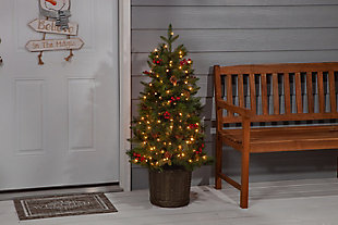 Decorative 4' Potted Mixed Needle Riverton Pine Tree, , rollover