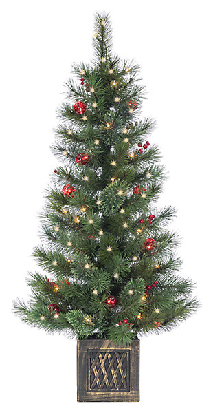 Decorative 4' Potted Cashmere Tree, , large