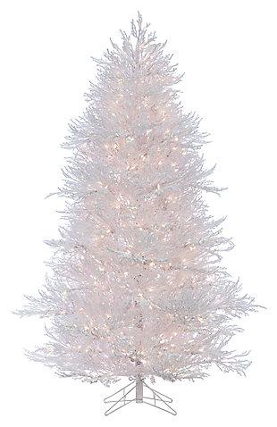 Decorative 7' Lightly Flocked White Twig Tree, , large