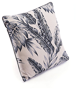 Modern Leaf Print Pillow, , large