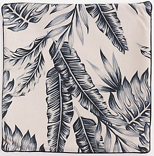 Modern Leaf Print Pillow, , large