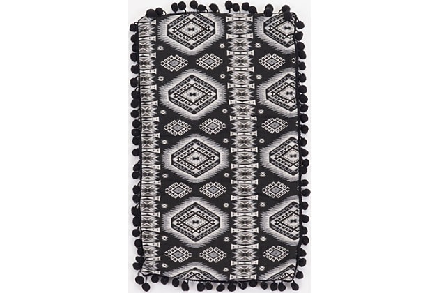 Modern Tribal Print Pillow, , large