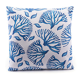 Modern Coral Print Pillow, , rollover
