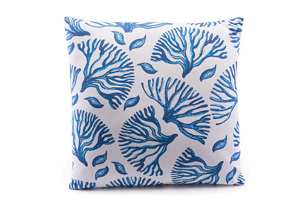 Modern Coral Print Pillow, , large