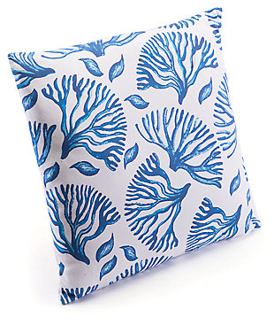 Modern Coral Print Pillow, , large