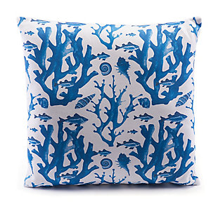 Modern Reef Print Pillow, , rollover