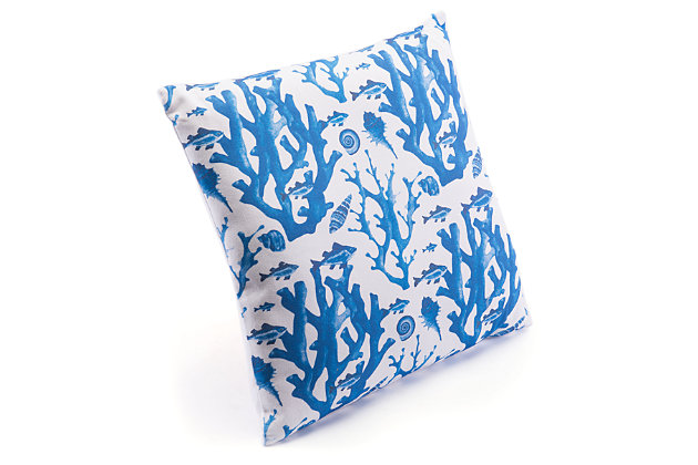 Modern Reef Print Pillow, , large