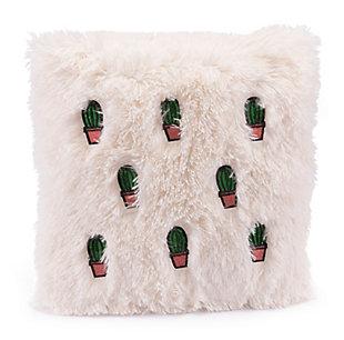 Modern Cactus Print Pillow, , rollover