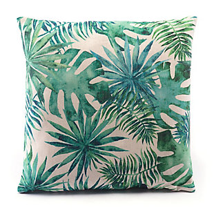 Modern Tropical Print Pillow, , rollover