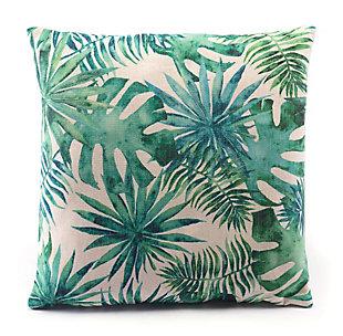 Modern Tropical Print Pillow, , rollover