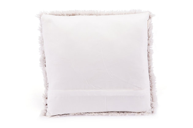 Modern Faux Fur Pillow, , large