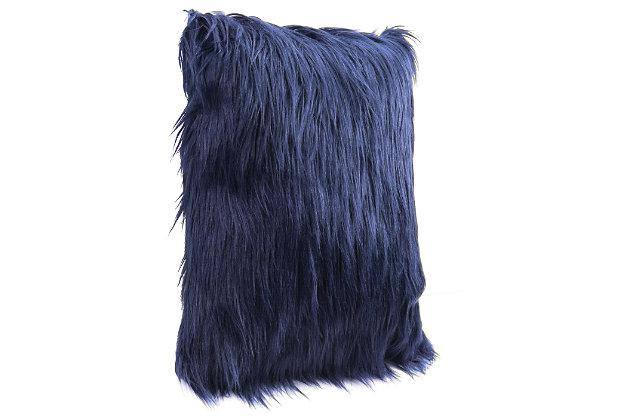 Modern Faux Fur Pillow, , large