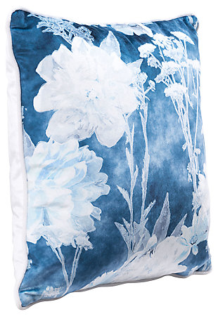 Modern Floral Print Pillow, , large