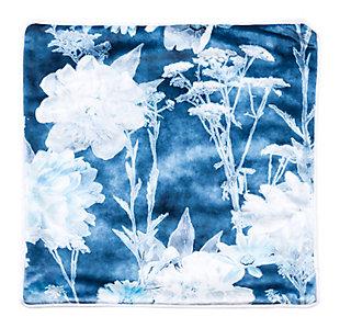 Modern Floral Print Pillow, , large