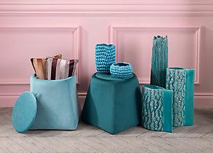 Modern Velvet Pillow, Pink, rollover