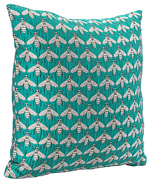 Modern Bees Verdigrin Pillow, , large