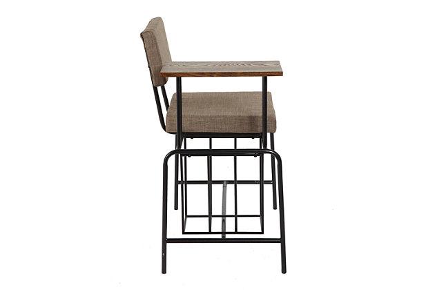 Mid Century Modern Gossip Chair, , large