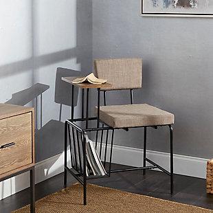 Mid Century Modern Gossip Chair, , rollover