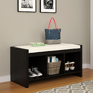 Carolina Entryway Storage Bench with Cushion, , rollover