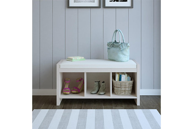 Carolina Entryway Storage Bench with Cushion, , large