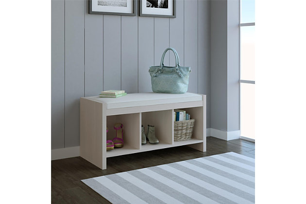 Astonishing Carolina Entryway Storage Bench With Cushion Ashley Uwap Interior Chair Design Uwaporg