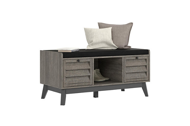 Superb Borsari Entryway Storage Bench With Cushion Ashley Uwap Interior Chair Design Uwaporg