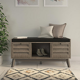 Borsari Entryway Storage Bench with Cushion, , rollover