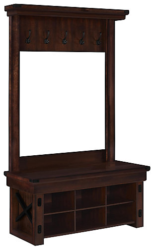 Daisee Entryway Hall Tree with Bench, , large