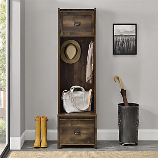 Cohen Entryway Hall Tree with Storage Bench, Rustic, rollover