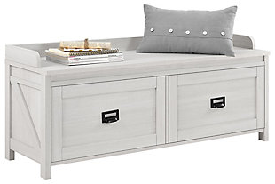 Duver Entryway Storage Bench, , large