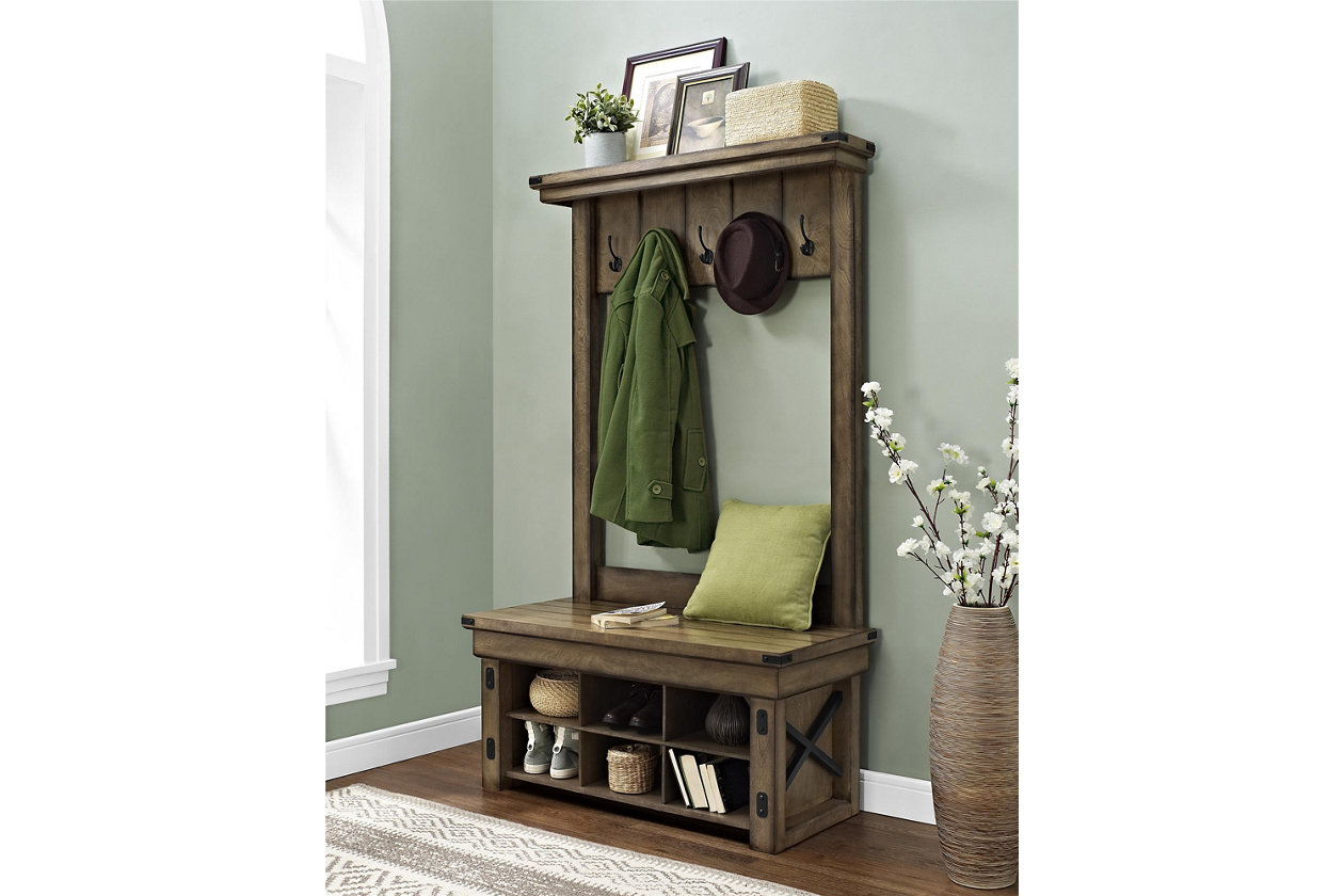 Wondrous Daisee Entryway Hall Tree With Storage Bench Ashley Customarchery Wood Chair Design Ideas Customarcherynet