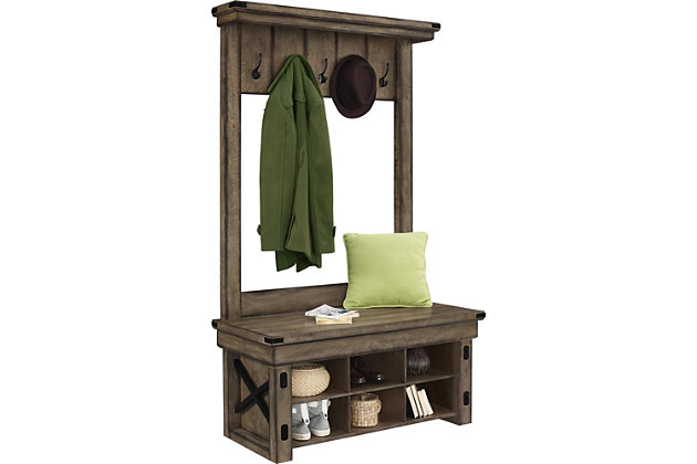 Daisee Entryway Hall Tree with Storage Bench, , large