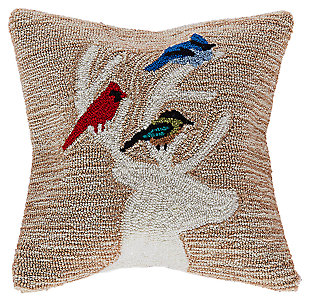"Decorative Liora Manne Whimsy Holiday Friends Indoor/Outdoor Pillow 18"", , rollover"
