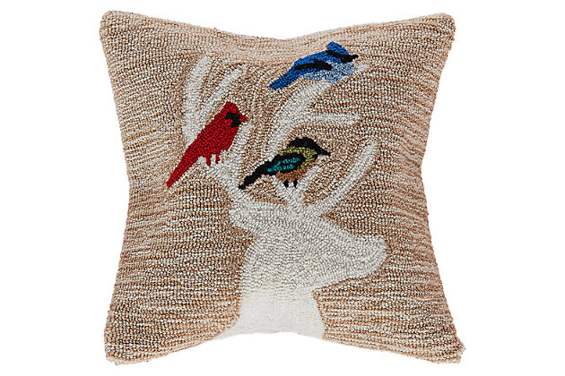 "Decorative Liora Manne Whimsy Holiday Friends Indoor/Outdoor Pillow 18"", , large"