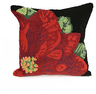 "Decorative Liora Manne Holiday Bloom Indoor/Outdoor Pillow 18"" Square, , large"
