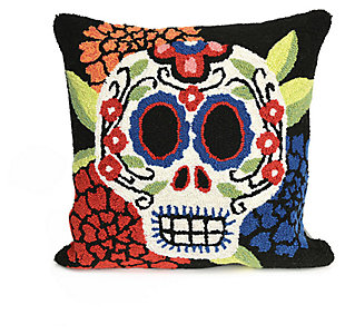 "Decorative Liora Manne Mrs. Horror Indoor/Outdoor Pillow 18"" Square, , large"