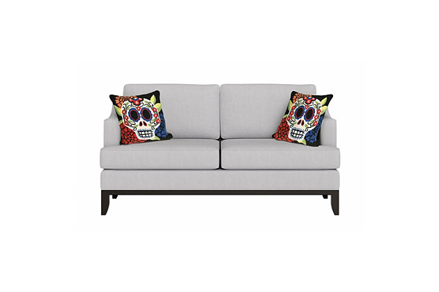 "Decorative Liora Manne Mrs. Horror Indoor/Outdoor Pillow 18"" Square, , large"