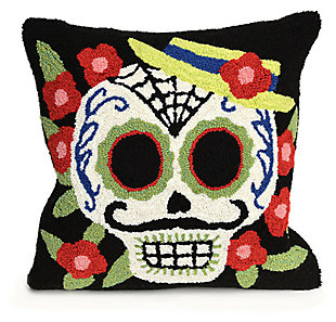 "Decorative Liora Manne Mr. Horror Indoor/Outdoor Pillow 18"" Square, , large"