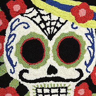 "Decorative Liora Manne Mr. Horror Indoor/Outdoor Pillow 18"" Square, , large"