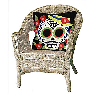 "Decorative Liora Manne Mr. Horror Indoor/Outdoor Pillow 18"" Square, , rollover"