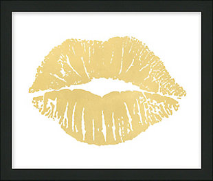 Giclee Gold Kiss Wall Art, , large