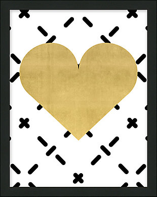 Giclee Gold Heart Wall Art, , large