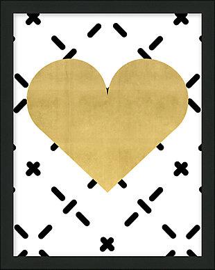 Giclee Gold Heart Wall Art, , large