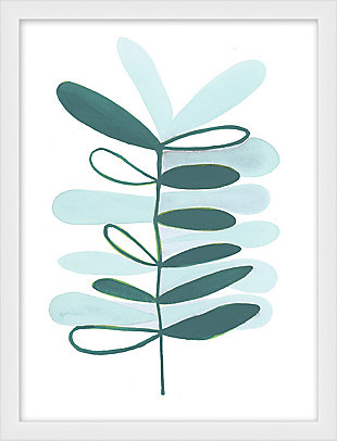 Giclee Teal Plant Wall Art, , large