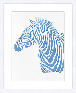 Giclee Blue Zebra  Wall Art, , large
