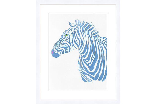 Giclee Blue Zebra Wall Art, , large